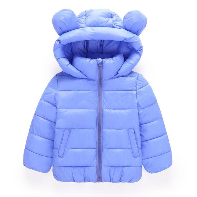 BEEBILLY Girls Winter Jackets Boys Cartoon Style Girl Fashion Outerwear Baby Girls Clothes Hooded
