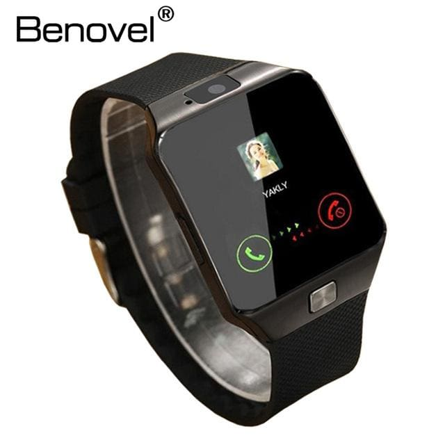 Benovel DZ09 Smart Watch With Camera Bluetooth WristWatch Sport Wearable Devices SIM TF Card Black No Box / Add 4GB TF card