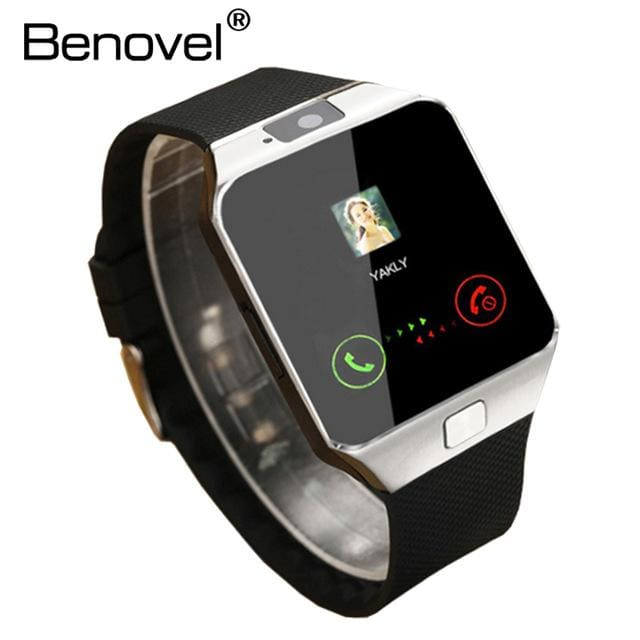 Benovel DZ09 Smart Watch With Camera Bluetooth WristWatch Sport Wearable Devices SIM TF Card Silver No Box / Add 4GB TF card