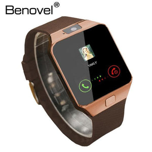 Benovel DZ09 Smart Watch With Camera Bluetooth WristWatch Sport Wearable Devices SIM TF Card Gold No Box / Add 4GB TF card