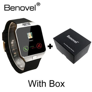 Benovel DZ09 Smart Watch With Camera Bluetooth WristWatch Sport Wearable Devices SIM TF Card Silver with Box / Add 4GB TF card