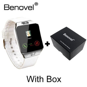 Benovel DZ09 Smart Watch With Camera Bluetooth WristWatch Sport Wearable Devices SIM TF Card White with Box / Add 4GB TF card