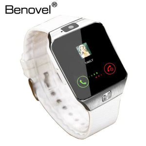Benovel DZ09 Smart Watch With Camera Bluetooth WristWatch Sport Wearable Devices SIM TF Card White No Box / Add 4GB TF card