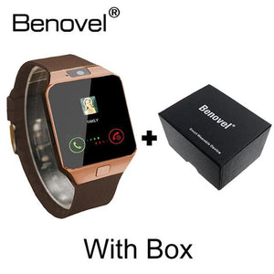 Benovel DZ09 Smart Watch With Camera Bluetooth WristWatch Sport Wearable Devices SIM TF Card Gold with Box / Add 4GB TF card