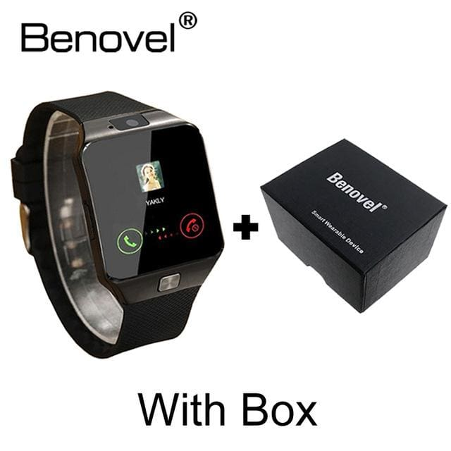 Benovel DZ09 Smart Watch With Camera Bluetooth WristWatch Sport Wearable Devices SIM TF Card Black with Box / Add 4GB TF card
