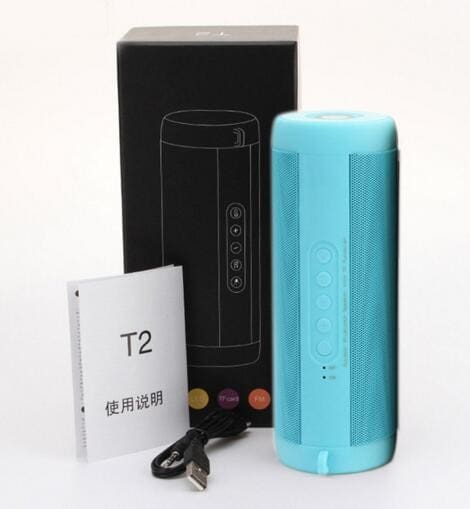 Best Wireless Bluetooth Speaker Waterproof Portable Outdoor Mini Bicycle Speaker Column Box China / Blue With Box