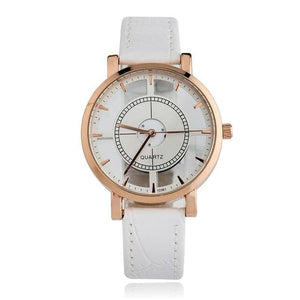 Bgg Brand Hollow Womens Luxury Creative Watch Womens Casual Watches Leather Ladies Dress Quartz White