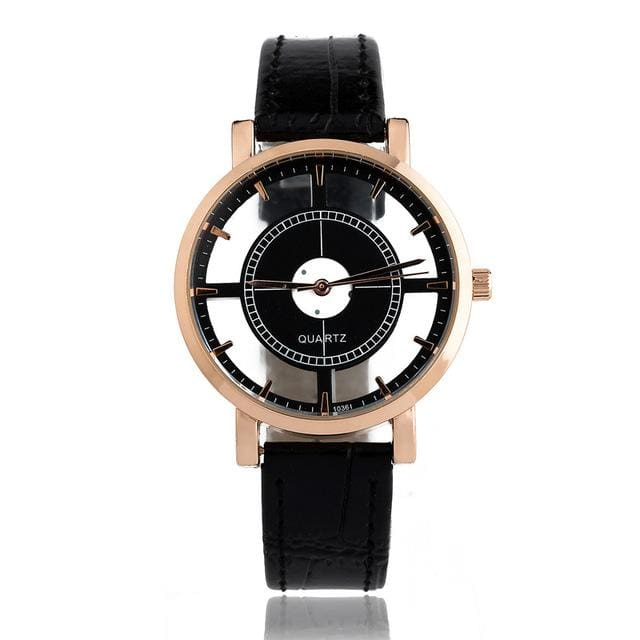 Bgg Brand Hollow Womens Luxury Creative Watch Womens Casual Watches Leather Ladies Dress Quartz Black