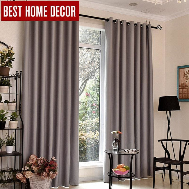 BHD modern blackout curtains for window treatment blinds finished drapes window blackout curtains - MBMCITY
