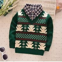 4f1fc01e1041 BibiCola Children Sweaters Shirts baby boys girls knitted warm ...