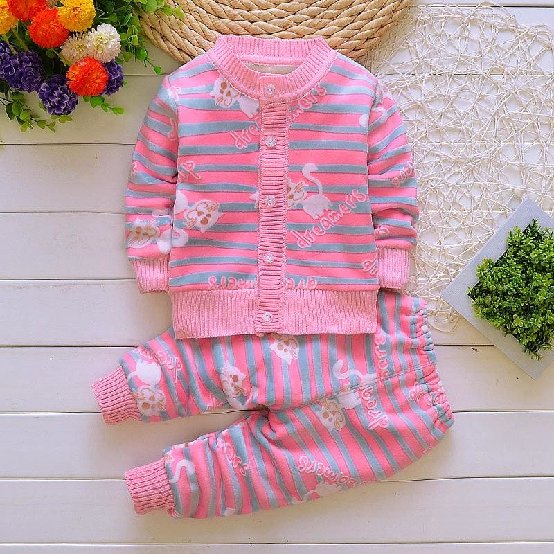 d5058e6c9bb5 BibiCola Children winter baby girls boys Christmas clothing set kids ...