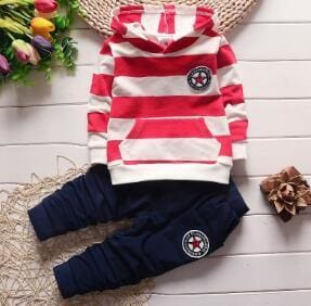 BibiCola spring autumn new fashion baby boys girls hoodies sport suit Children clothing set toddler