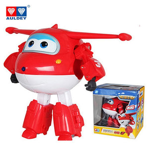 Big!!!15cm ABS Super Wings Deformation Airplane Robot Action Figures Super Wing Transformation toys