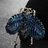 Blucome Perfect Green Insect Brooch For Men Jewelry Christmas Hijab Pins And Broaches Womens Enamel Blue
