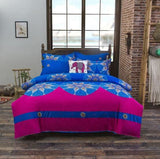 Bohemian Style Bedding set Floral Printed Bed linens Twin Queen King Size 4pcs Duvet Cover Flat