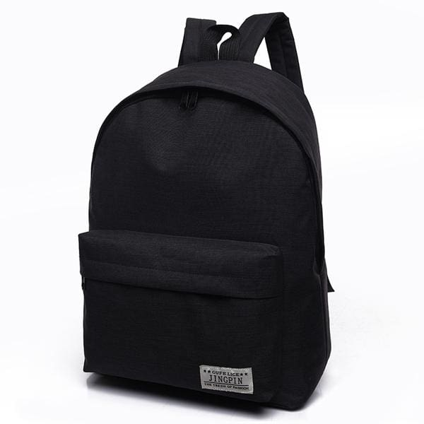 Bokinslon Women Backpack Man Popular Solid Color Backpack For Woman School Bag College Wind Small Black