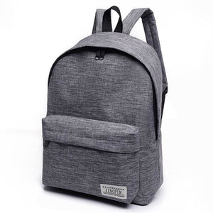 Bokinslon Women Backpack Man Popular Solid Color Backpack For Woman School Bag College Wind Small Gray