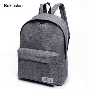Bokinslon Women Backpack Man Popular Solid Color Backpack For Woman School Bag College Wind Small