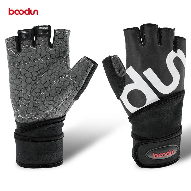 Boodun Men Women Half Finger Crossfit Gym Gloves Fitness Gloves Body Buildingweight Lifting Wrist