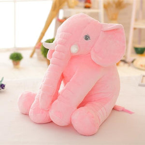 BOOKFONG 40cm New Fashion Animals toys Stuffed Soft Elephant Pillow Baby Sleep Toys Room Bed Blue