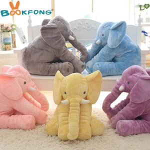 BOOKFONG 40cm New Fashion Animals toys Stuffed Soft Elephant Pillow Baby Sleep Toys Room Bed