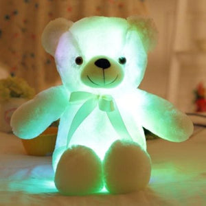 BOOKFONG 50cm Creative Light Up LED Teddy Bear Stuffed Animals Plush Toy Colorful Glowing Teddy Bear Pink