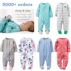Brand 2018 fashion baby pajamas & sleepwear baby clothing baby boys clothes for girls rompers 100%