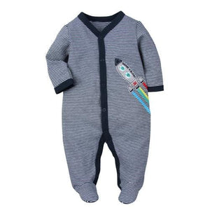 Brand 2018 fashion baby pajamas & sleepwear baby clothing baby boys clothes for girls rompers 100% rose / 3M