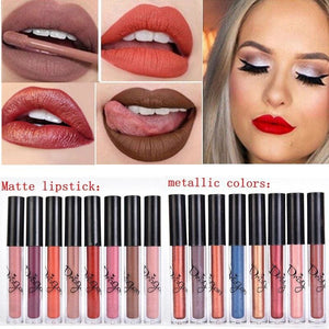 Brand Batom Nude Lipstick Tint for Lips Cosmetics Longwear Not Fade Magic Lip Gloss Matte Metallic