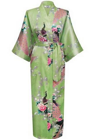 Brand New Black Women Silk Kimono Robes Long Sexy Nightgown Vintage Printed Night Gown Flower Plus As The Photo Show 3 / S