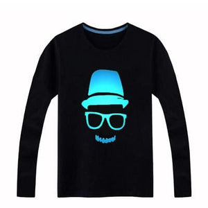 Brand New Girls Boys T-Shirts 100% Cotton Children Long Sleeve Tops Kids Hip Hop Neon Print Party Spiderma / 3T