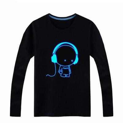 Brand New Girls Boys T-shirts 100% Cotton Children Long Sleeve Tops Kids Hip Hop Neon Print Party.