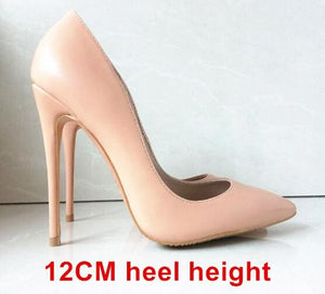 Brand Shoes Woman High Heels Women Shoes Pumps Stilettos Shoes For Women Black High Heels 12CM PU