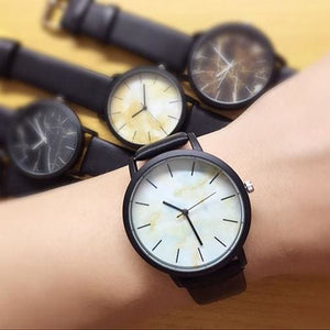 British style Marble Watches 2018 Hot Fashion Marbling Stripe Creative Quartz Watch Men Women - MBMCITY
