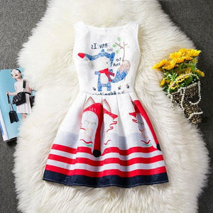 Butterfly Dress For Girl Wear Sleeveless Cotton Summer 2017 Kids Clothes Children Clothing Birthday - MBMCITY