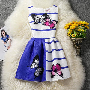 Butterfly Dress For Girl Wear Sleeveless Cotton Summer 2017 Kids Clothes Children Clothing Birthday