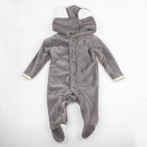 Cartoon Coral Fleece Newborn Baby Romper Costume Baby Clothes Animal Overall Menina Winter Warm 2 / 3M / China