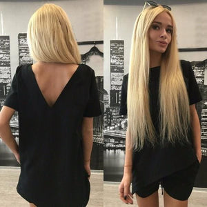 Casual Women Sets Clothes 2 Pieces Top T-shirt and Shorts Summer Women Sets Fashion Soild Color Black / S
