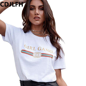 CDJLFH 2017 T-Shirt Fashion Women Short Sleeve Summer Autumn Tshirt Female Retro Tops Tee Lady T