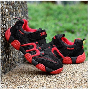Children Shoes Kids Boys Shoes Casual Kids Sneakers Leather Sport Fashion Children Boy Autumn Red / 9.5