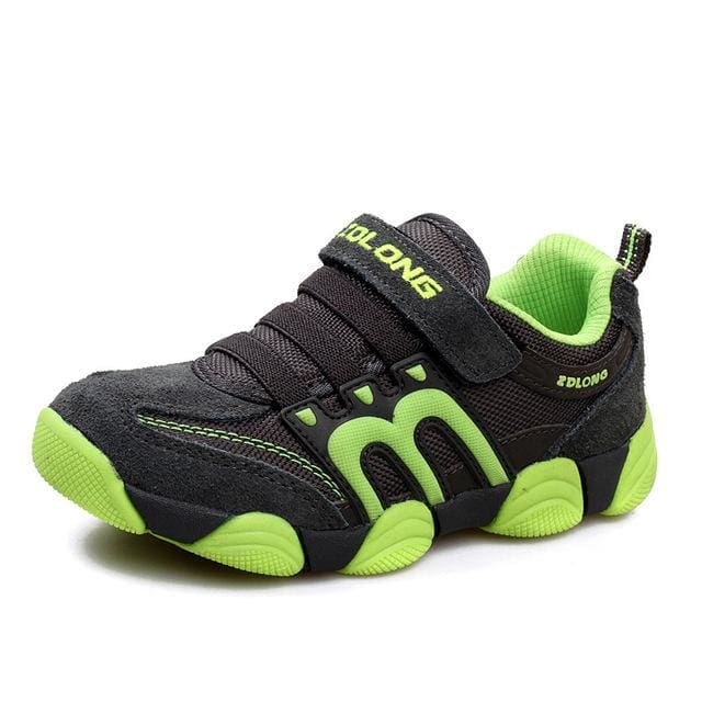 Children Shoes Kids Boys Shoes Casual Kids Sneakers Leather Sport Fashion Children Boy Autumn Army Green / 9.5
