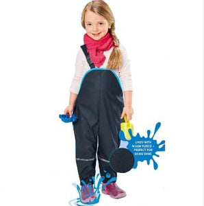 Children Waterproof Rain Pants Overalls 1-7Yrs Baby Boys Girls Overalls