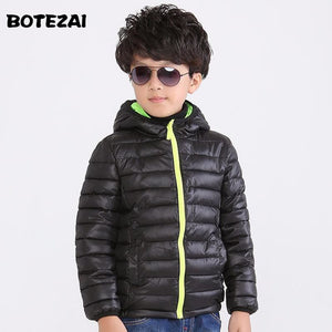 Childrens Outerwear Boy and Girl Winter Warm Hooded Coat Children Cotton-Padded Clothes boy Down