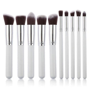 CHILEELOVE 10 Piece Pce/Set Base Cosmetics Makeover Makeup Brushes Kit For Women Foundation Blending Blue