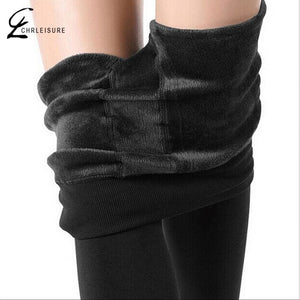 CHLEISURE S-XL 8 Colors Winter Leggings Womens Warm Leggings High Waist Thick Velvet Legging Solid