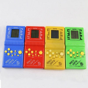 Classic Handheld Game Machine Tetris Brick Game Kids Game Machine with Game Music Playback without