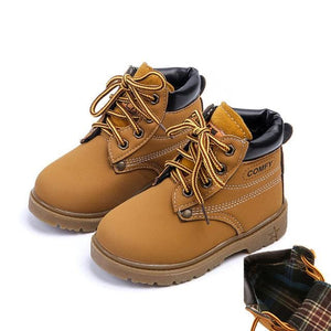 Comfy kids child snow boots shoes for girls boys boots fashion soft bottom baby girls boot  21-25 - MBMCITY