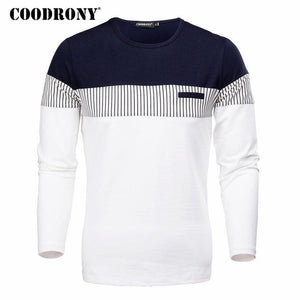 COODRONY T-Shirt Men 2018 Spring Autumn New Long Sleeve O-Neck T Shirt Men Brand Clothing Fashion