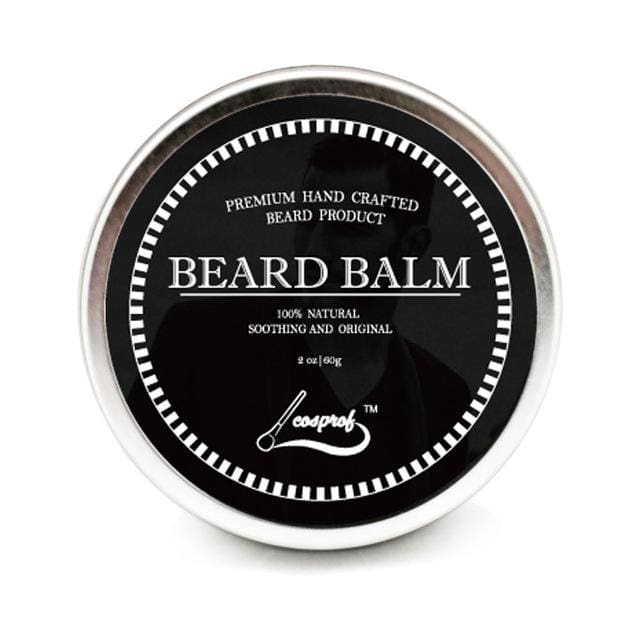 Cospof Beard Balm Moustache Cream Beard Oil Set Conditioner Beard Balm Healthy Moisturizing Beard Balm