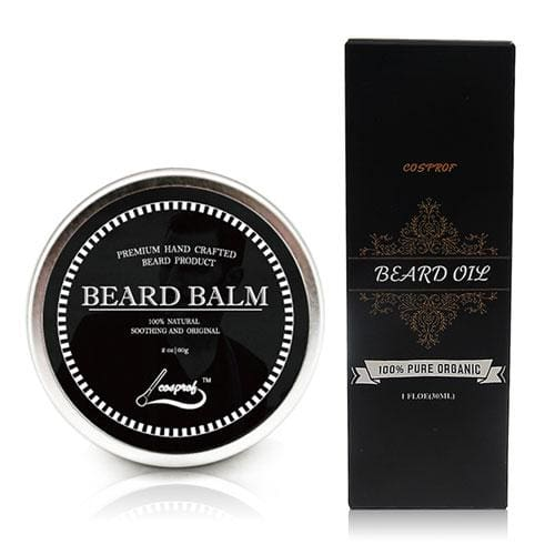 Cospof Beard Balm Moustache Cream Beard Oil Set Conditioner Beard Balm Healthy Moisturizing Beard Oil And Balm